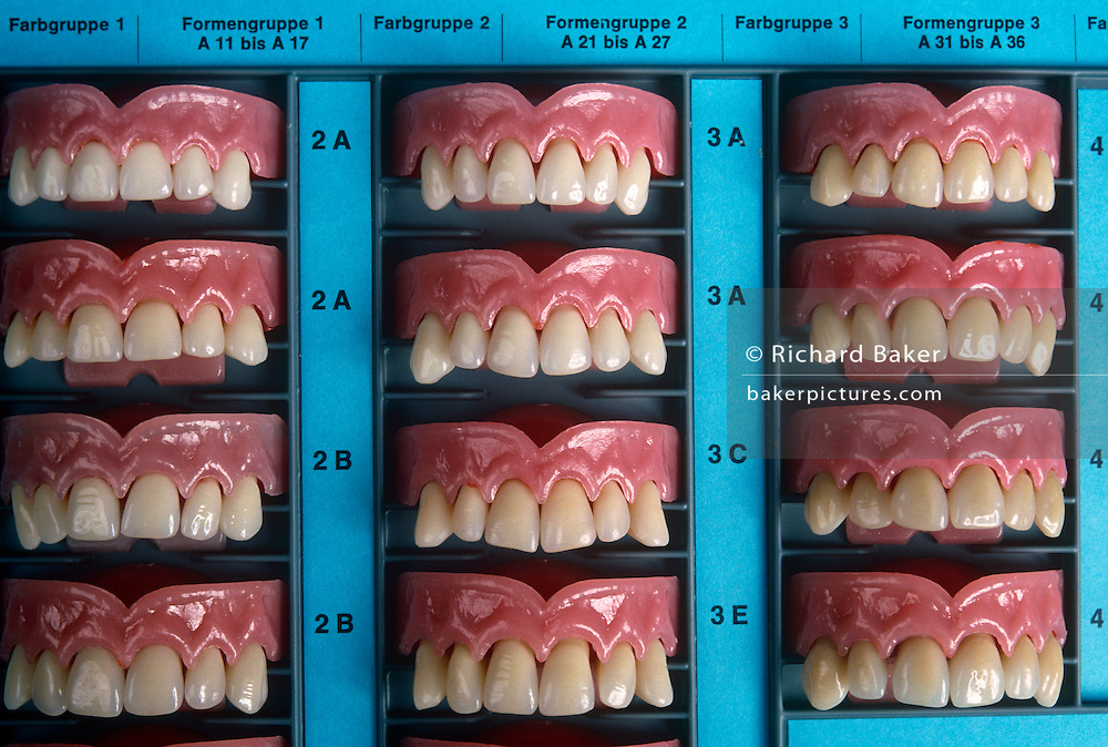 Liechtenstein - Schaan - Acrylic teeth samples